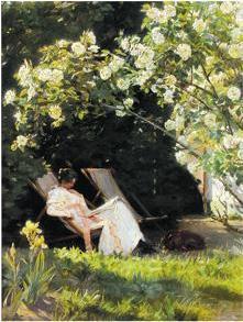 Kroyer - Unter dem Rosenbusch (ca. 95cm x 75cm)