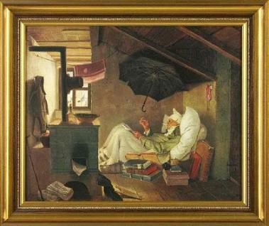 Spitzweg - Der arme Poet; Leinwandreproduktion