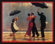Vettriano - Singing Butler: Leinwand Kunstrepro