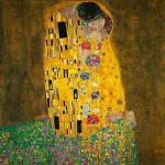 Klimt, Gustav - Der Kuss - Leinwand Reproduktion