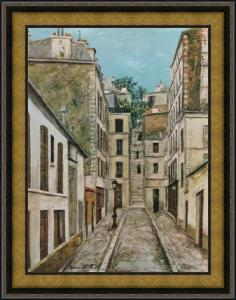 Utrillo - Cottinggasse - Leinwand-Reproduktion