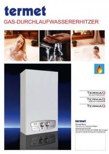 """Gas Durchlauferhitzer TermaQ """"Aqua Power"""" - modulierbar 7, 7-19, 2 KW"""