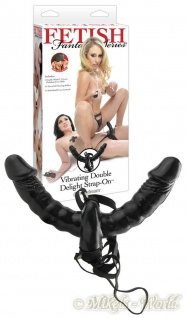 Fetish Fantasy Double Delight Strap-On Vibrator schwarz