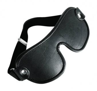Ledapol - Echt Leder Fetisch Augenmaske / Augenbinde schwarz - Gr. S-L