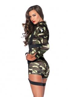 Leg Avenue - Knappes 2-tlg. Goin Commando Overall Kostüm in Camouflage Design - Vorschau 2