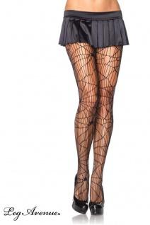 Leg Avenue - Panty Netz Strumpfhose im Spider Design - Gr. S-L