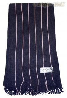 Weicher Unisex Strickschal mit Fransen schwarz-rose - Nr. 6