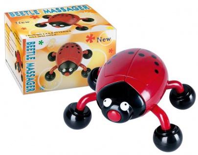Vibrierender Massage Käfer für entspannende Massagen rot-schwarz