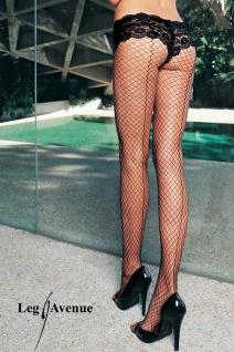 Leg Avenue - Netz Strumpfhose mit erotischer Naht schwarz - Gr. S-L