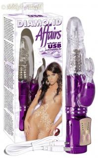 Diamond Affairs USB Perlen-Vibrator lila-transparent