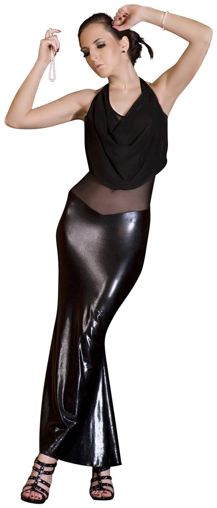 a0bf7466a7d1 Noir Handmade - Elegantes langes Kleid mit Tüll rückenfrei schwarz ...