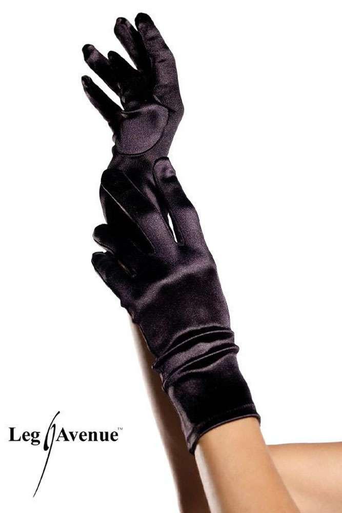 40578ba156082 Leg Avenue - Elegante kurze Satin Handschuhe in diversen Farben