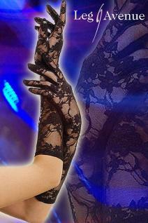 Leg Avenue - Elegante lange Handschuhe Spitze schwarz - Gr. S-L