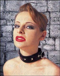 Domina Echt Leder Halsband Manschette schwarz
