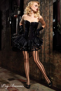 Leg Avenue - Burlesque Pailletten Vollbrust Korsett in diversen Farben