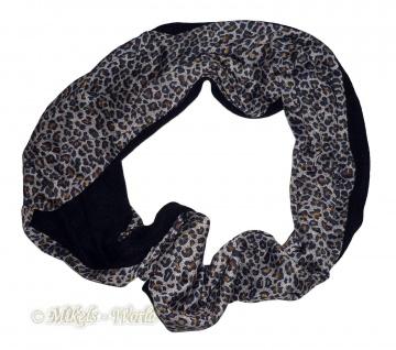 Leo-Look Damen Loopschal - Schlauchschal Leoparden-Design