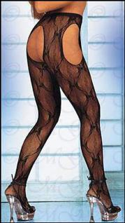 Sex-Strumpfhose ouvert aus zartem Tüll - Gr. S-L