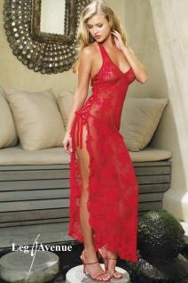 Leg Avenue - Traumhaftes langes Negligé Kleid rot - Gr. S-L