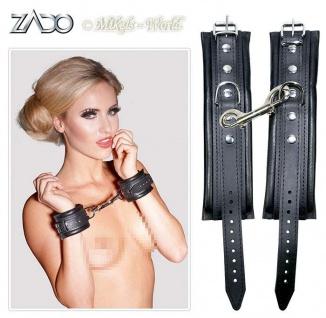 Zado Leder Handfessel schwarz