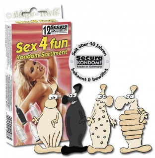Secura Kondom-Set Sex4fun Mix