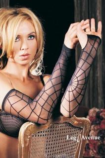 Leg Avenue - Gothic Spider Armstulpen - Punk Handschuhe - Gr. S-L
