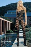 Leg Avenue - Catsuit ouvert in Effekt Optik schwarz - Gr. S-L