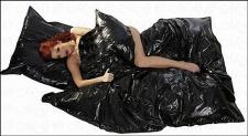 Lack Bettbezug / Bettdecke schwarz 135 x 200 cm
