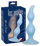 Los Analos Wellenform-Analplug blau