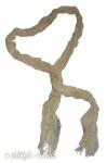 Weiches Damen Halstuch - Schal im Knitterlook beige