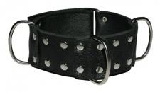 Ledapol - Echt Leder Bondage Halsband / Halsmanschette mit Nieten schwarz - Gr. S-L