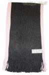 Weicher Unisex Strickschal mit Fransen schwarz-rose - Nr. 10