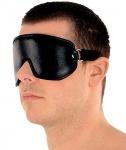 Ledapol - Spaltleder Augenklappe / Augenbinde mit Gummiband