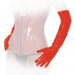 Ledapol - Enge lange glänzende Lack Handschuhe