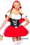 Leg Avenue - Romantisches Rotkäppchen Kostüm mit Kapuzenumhang