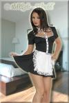 Servier-Kleid mit Schürze schwarz-weiß