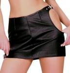 Ledapol - Echt Leder Hüft-Minirock mit seitlichen Schnallen