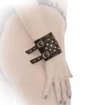 Ledapol - Breites Echt Leder Armband / Manschetten mit Nieten
