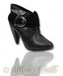Trendy Ankle Boots Rebecca schwarz