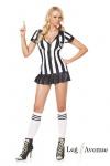 Leg Avenue - 3-teiliges erotisches kurzes Schiedsrichterin Kostüm-Set