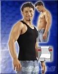 Enges Bauchweg Muskel Shirt / Top schwarz