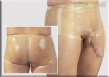 Herren Latex Pants / Slip transparent