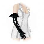 Ledapol - Lange glänzende Lack Handschuhe mit Umschlag