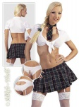 Knappe Schulmädchen Uniform 4-tlg: Rock, Top…
