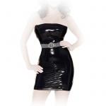 Insistline - Schulterfreies Datex Minikleid mit Zip