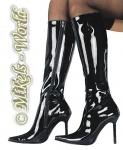 Ledapol - Glänzender Lack Stiefel Kira schwarz