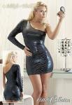 Rassiges schulterfreies Mini-Kleid im Tigerdesign schwarz-petrol
