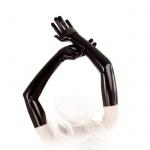 Anita Berg - Hautenge lange Latex Handschuhe schwarz