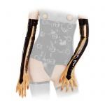 Anita Berg - Lange Latex Zip-Handschuhe transparent-schwarz