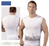 Effektvolles knappes Skyline Print Top / Shirt weiß-grau