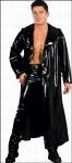 Matrix Gothic Lack-Mantel / Regenmantel schwarz